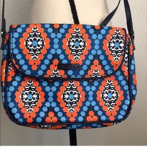 VERA BRADLEY Marrakesh Blue Orange Crossbody bag